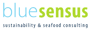 Logo bluesensus sustainability and seafood consulting